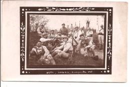 Militaria - Bonjour De LAVAL 1936 - Mitrailleuses,  Carte Photo - Manoeuvres