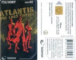 Telefonkarte Norwegen - Atlantis The Lost Empire - N-228  09/01 - Norwegen