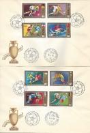 HUNGARY - 1972. FDC - European Soccer Championships, Henri Delaunay Cup  I. Mi : 2751-2758. - FDC