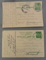 2 DOPISNICE, CARTE POSTALE, KRALJEVINA JUGOSLAVIJA UPUCENE NAREDNIKU VOJSKE KRALJEVINE JUGOSLAVIJE - 1931-1941 Kingdom Of Yugoslavia