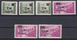Istria Litorale Yugoslavia Occupation, Porto 1946 Sassone#8-13 Mint Hinged