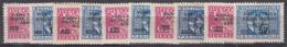 Istria Litorale Yugoslavia Occupation, 1947 Sassone#67-76 Mint Hinged