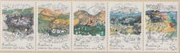 """Australien 1306-10 In Waagrechtem 5-Streifen In Folder !!! """"Landschaftspflege"""" MNH / ** / Postfrisch - 1990-99 Elizabeth II"""
