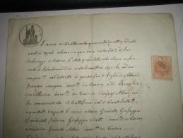 Fiscal  Document 1869 TORINO  Italia Francia  Intero - Steuermarken