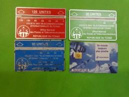 Lots De 52  Telecarte-republique Du Tchad-france Telecom-sauter-jacques Vabre-internationaux De Gym  Etc... - Télécartes