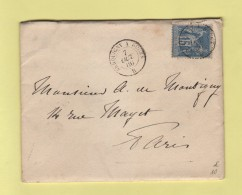 Convoyeur De Nuit - Serquigny A Rouen B - 7 Oct 1886 - Spoorwegpost
