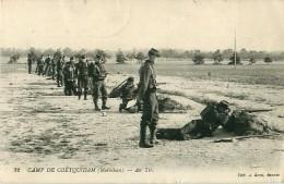 Cpa Camp De COETQUIDAN 56 Au Tir - Cachet Dépôt Du 41e Régiment D' Infanterie - Guer Coetquidan