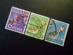 Berlin (West)  Mi22+24+26 - 6+10+20Pf -  Freimarken 1949 - MI € 6,30 - Used Stamps