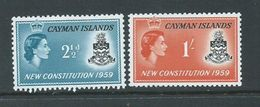 Cayman Islands 1959 New Constitution Set 2 MNH - Cayman Islands