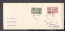 Southern Rhodesia: 1947 Royal Visit  First Day Cover, Registered,  SALISBURY  C.d.s. - Southern Rhodesia (...-1964)