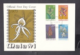 Malawi, 1975 Orchids Of Malawi  First Day Cover, - Malawi (1964-...)