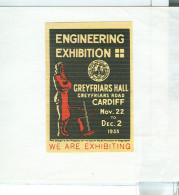 ERINNOFILO - VIGNETTA - CINDERELLA, Cardiff 1933 Engineering Exhibition Creyfriars Hall, - Cinderella