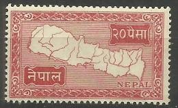Nepal - 1954 Map Of Nepal 24p MNH **   Sc 79 - Nepal