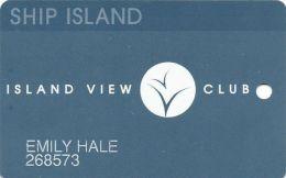 Island View Casino Gulfport, MS - 1st Isue Slot Card - Tiny Dark Insert Arrows - Casino Cards