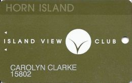Island View Casino Gulfport, MS - 3rd Isue Slot Card - (I) Over Light Brown Mag Stripe - Casino Cards