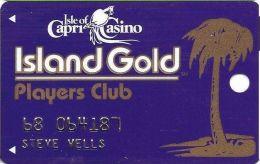 Isle Of Capri Casino Biloxi & Vicksburg MS Slot Card With Faraday Over Mag Stripe - Casino Cards