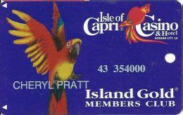 Isle Of Capri Casino Bossier City, LA Slot Card With DLR CP Over Mag Stripe - Casino Cards