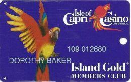 Isle Of Capri Casino Lake Charles, LA Slot Card With DLR CP Over Mag Stripe - Casino Cards