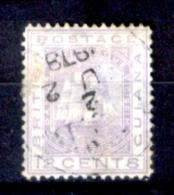 Guyana 0002 - 1876: Y&T N. 38 (o), Privo Di Difetti Occulti.- - British Guiana (...-1966)