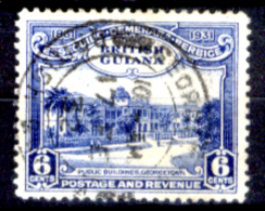 Guyana 0004 - 1931: Y&T N. 140 (o), Privo Di Difetti Occulti.- - British Guiana (...-1966)