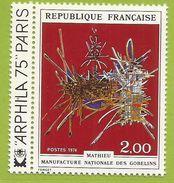 France 1975 1813 ** Tapisseries Gobelins Mathieu Hommage à Nicolas Fouquet Arphila - Textile