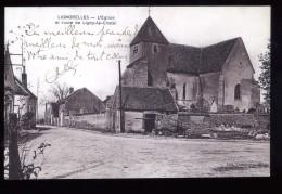 89  Yonne Lignorelles L'église Et Route De Ligny Le Chatel 1915 Tramblay - Autres Communes