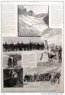 Les Chasseurs Alpins -  Alter Druck Von 1894  -  ( 3 ) - Documents Historiques