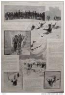 Les Chasseurs Alpins -  Alter Druck Von 1894  -  ( 4 ) - Documents Historiques