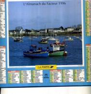 CALENDRIER DU FACTEUR 1996 ALMANACH CHALUTIERS ET PORT NAVALO RHUYS MORBIHAN - Calendriers