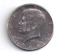 ETATS UNIS - Half Dollar  1964 ( Argent ) - 1964-…: Kennedy