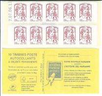 CARNET 10TP CIAPPA - SAGEM - TVP LP - AVEC MARGE BLANCHE (DROITE SUR COUVERTURE) - DATE DU 07 06 2013 - NEUF - NON PLIE - Carnets