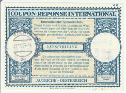 Coupon Réponse Autriche 3,50 Schilling -  Modèle Londres 17 - Reply IRC CRI IAS - Oesterreich - Wien 1963 - Enteros Postales