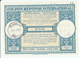 Coupon Réponse Finlande -  Modèle Londres 17 - Reply IRC CRI IAS - 1963 Turku Abo - Enteros Postales