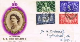BR 555 BRIEF WEST EALINE KROONING QUEEN ELIZABETH 2 JUNI 1953 ZIE SCAN - Lettres & Documents