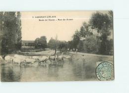 LUCENAY LES AIX : Bords De L'Auzon, Pont Des Arnoux. Troupeau De Vaches. 2 Scans. Edition ? - Autres Communes