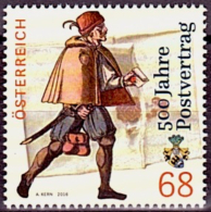 Austria Österreich 2016 500 Jahre Postvertrag.  MNH / ** / POSTFRISCH - 2011-... Unused Stamps