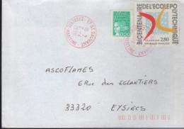Lettre De 17-St Sauvant 2-4 1999 Timbre à Date Frappé En Rouge - Abarten Und Kuriositäten