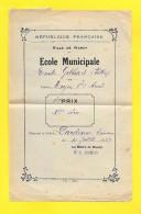 NANCY Ecole Municipale 1939 Emile GEBHART  ( F ) Cours Moyen 1er A Le Maire Dr C Schmitt - Diplômes & Bulletins Scolaires