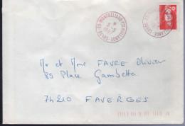 Lettre De 25-Montbeliard-Pte Hollande 5 -5 1997 Timbre à Date Frappé En Rouge - Abarten Und Kuriositäten