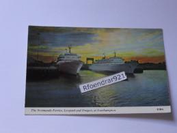 CAR FERRIES .NORMANDY FERRIES. Leopard Et Dragon à Southampton (V.clichés Recto-verso) - Ferries