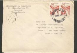 SPE375--- POSTAL HISTORY, JUGOSLAVIJA,  BEOGRAD--ROMA, ITALY, - 1945-1992 Socialist Federal Republic Of Yugoslavia