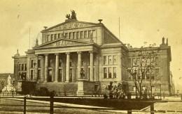 Allemagne Ville De Berlin Konzerthaus Schauspielhaus Schinkel Architecture Ancienne CDV Photo 1865 - Photographs