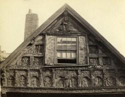 Royaume Uni Chester Maison De L'Eveque Pignon Sculpte Ancienne CDV Photo Bedford 1865 - Photographs