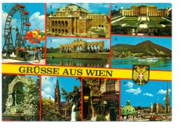 """Oostenrijk - """"Grüsse Aus Wien"""" Multivieuw 9 Ansichten - Wien"""