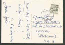 SPE381--- POSTAL HISTORY,  JUGOSLAVIJA,  DORNBERK---CASSINO, FROSINONE, ITALY, - 1945-1992 Socialist Federal Republic Of Yugoslavia