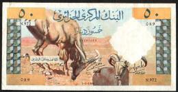 ALGERIA (BANQUE CENTRALE D'ALGERIE) :  50 Dinars - 1964 - P124  - XF - SN : 24287089 - Algeria