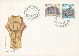 Luxemburg - FDC 28-5-1990 - Europa/CEPT - Postalische Einrichtungen - Luxembourg/Luxemburg - M 1243-1244 - Europa-CEPT