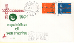 San Marino - FDC 29-5-1971 - Europa/CEPT -  M 975-976 - 1971
