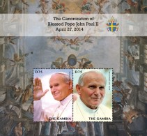 2014 - Canonisation Du Pape John Paul II - BF Neufs // Mnh - Gambie (1965-...)