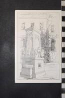 CP, Amerique, Etats Unis, The Trotter Fountain East Of Withers Public Library BLOOMINGTION Illinois Illustration Dessin - Etats-Unis